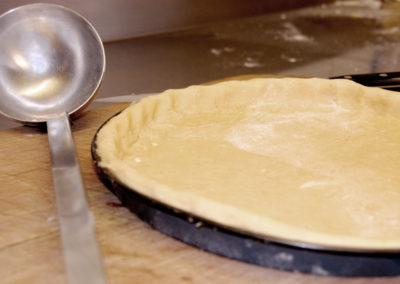 Tarte préparée en cuisine Restaurant Au Bon Pichet Sélestat